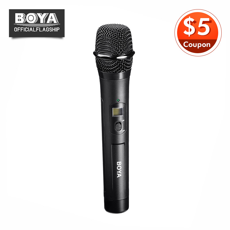 BOYA BY-WHM8 Microphone UHF transmission with 48UHF channels Work with BY-WM8 /BY-WM6 Receiver Wireless Handheld Mic System