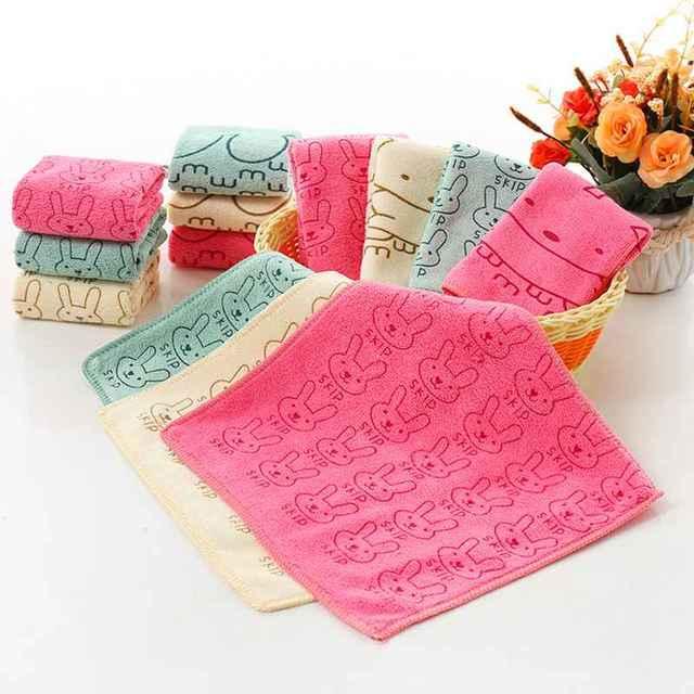 Toalla de bebé toallas de dibujos animados suaves Toalla de baño de bebé recién nacido bebé cara ducha pañuelos de cocina paño de lavado