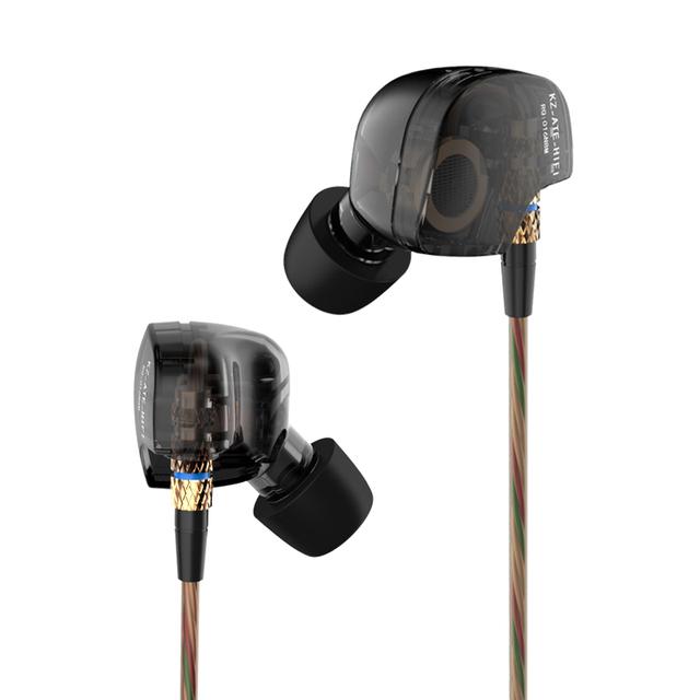 KZ COMIÓ Conductor Gancho Para la Oreja de Cobre de Alta Fidelidad de 3.5mm en la Oreja los Auriculares de Cancelación de Ruido Auriculares con Auriculares De Espuma con Micrófono