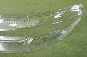 Image 3 - ヘッドランプカバーガラス透明ランプシェードランプシェードヘッドライトアウディ A6L A6 06 11 2 個