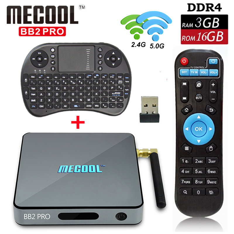 BB2 Pro 3GB 16GB Amlogic S912 Octa core Android 6.0 Marshmallow Smart TV Box WIFI HDMI 4K Android TV Box +I8 Keyboard