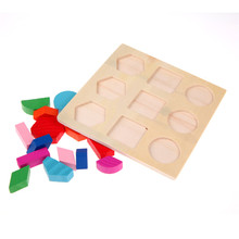 Kids Baby Wooden Toys Puzzle Learning Geometry