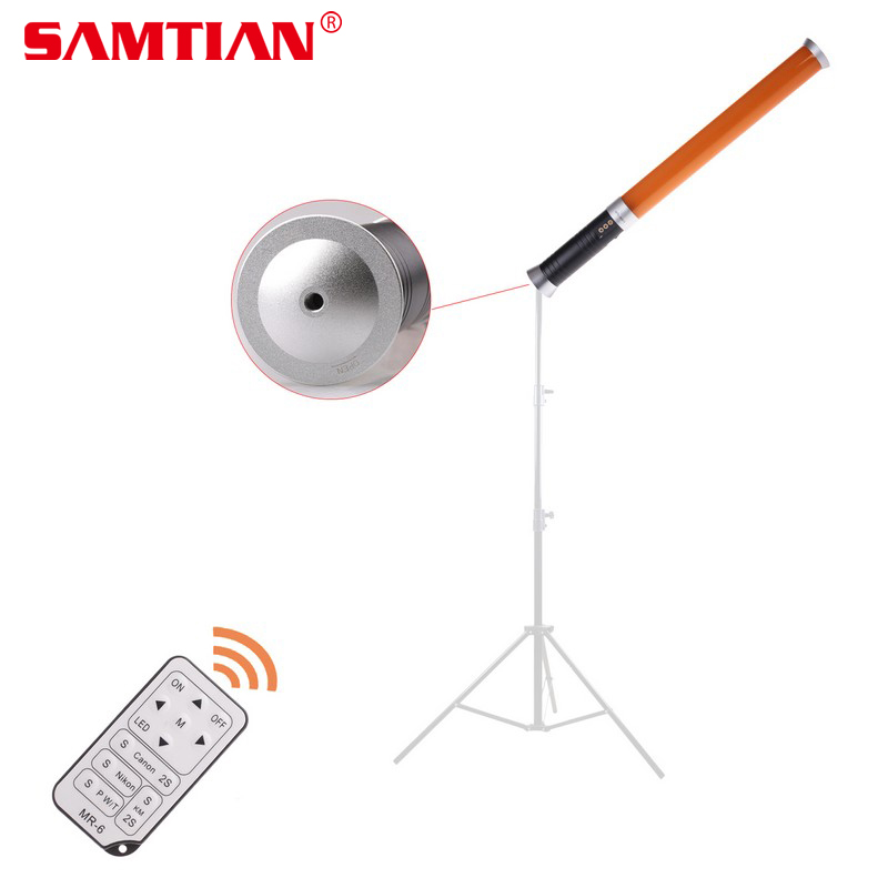 SAMTIAN Professionnel De Poche 20 w 9 v 5600 k/3200 k 298 LED Vidéo Caméra Magique Tube Lumière MTL-900 II Pour Caméra Vidéo Photo
