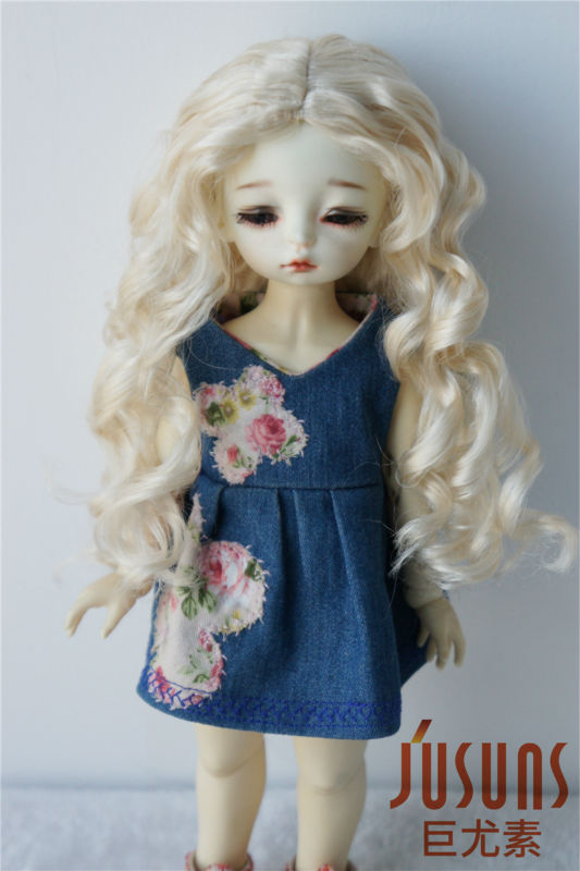 JD285  15.5-18 cm Doll wigs  1/6 YOSD Long wave Nobel princess BJD wig 6-7inch synthetic mohair doll accessories