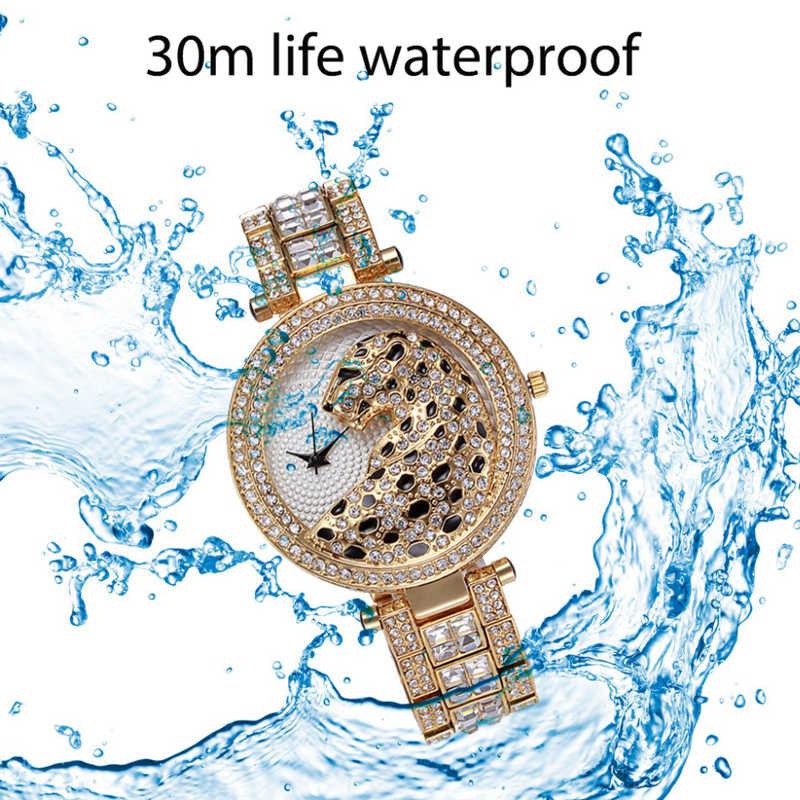 Miss Fox 2019 montre pour femme Top marque montre de luxe femmes or cristal diamant montres léopard dame montre-bracelet Reloj Mujer