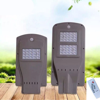 8PCS 20W 40W 60W Led Solar Powered Streetlight Outdoor For The Yard Integrated Radar Sensor PIR Human Body Sensor Remote Control