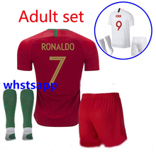 f0512294725 Top quality 2018 world cup Portugueses home away Soccer Jersey 18 19  Ronaldo adult Football shirt