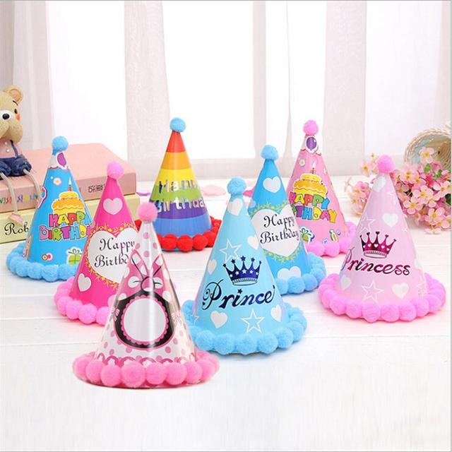 12pcs birthday party decorations kids diy birthday hat cute party