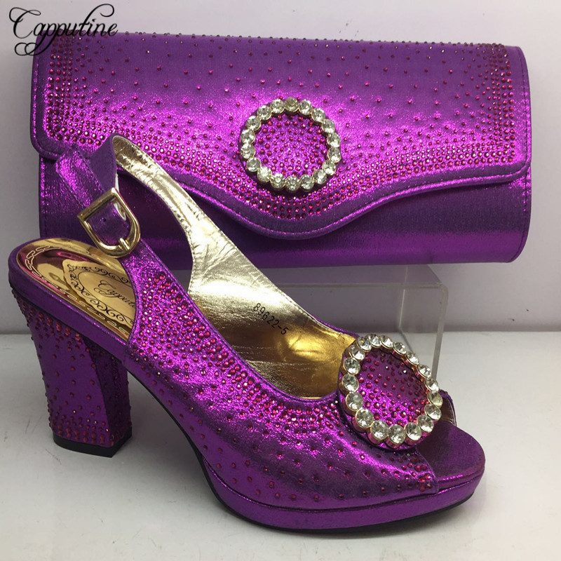 Capputine 2019 Top Selling Italian Shoes And Bags To Match Set African Summer Woman Pumps Shoes And Bag Set For Party BL285CCapputine 2019 Top Selling Italian Shoes And Bags To Match Set African Summer Woman Pumps Shoes And Bag Set For Party BL285C