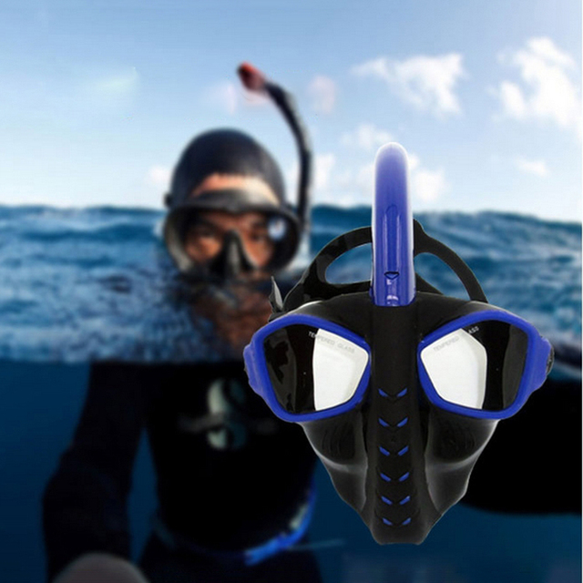 4790fb901 Full Dry Diving Mask Snorkeling Mask Silicone Scuba Maske Mascara Buceo  Full Face Masque Tuba Plongee