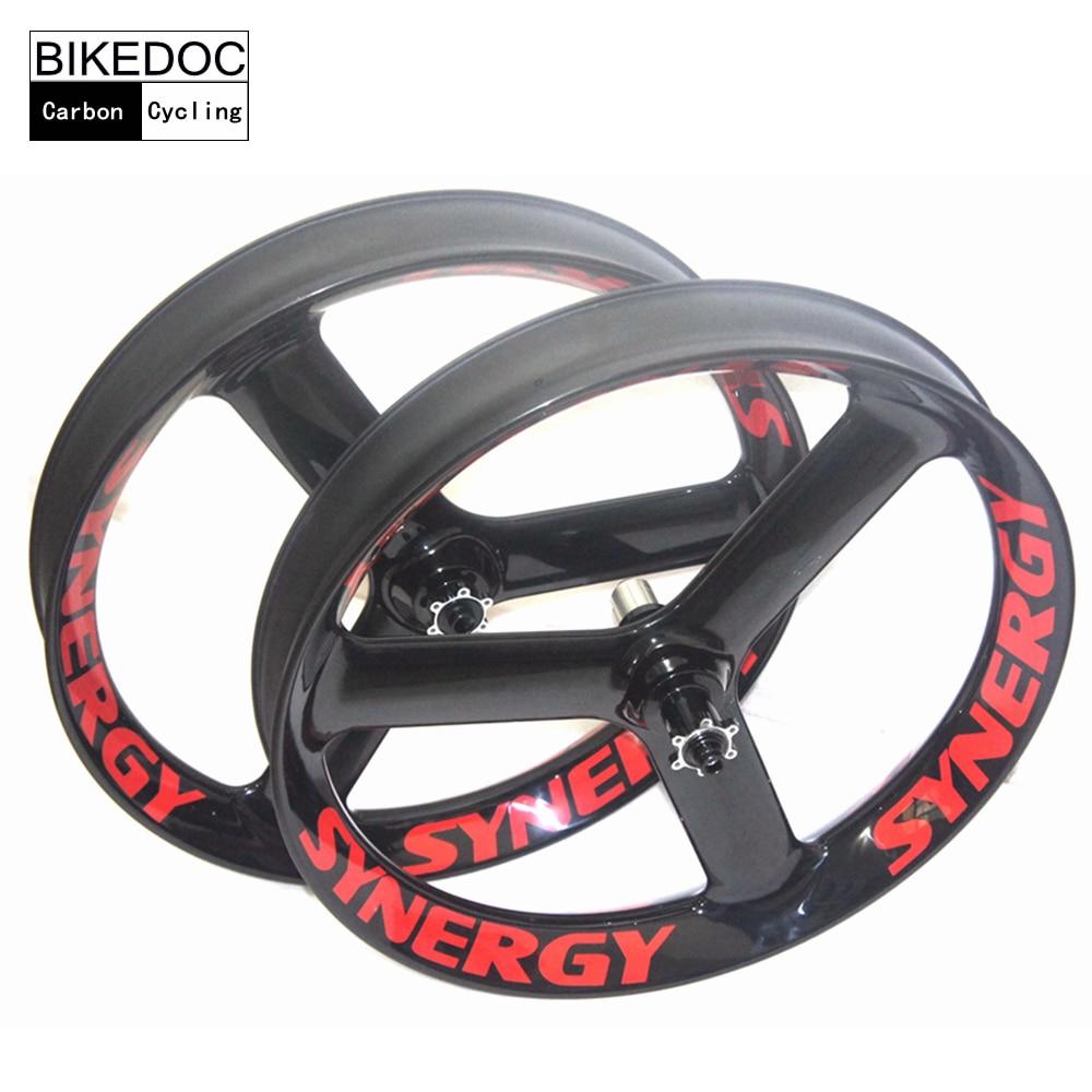 BIKEDOC 90mm*40mm Carbon Fatbike Wheel Front 135mm&150mm Rear 170mm&177mm&190mm&197mm Thru axel Fatbike Tri Spoke Wheel