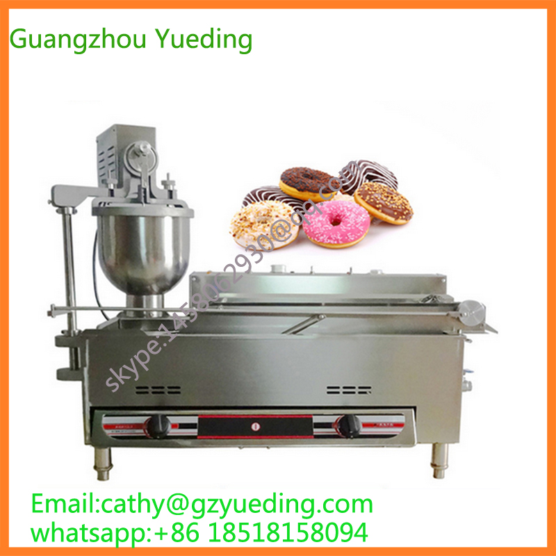 Full automatic donut fryer /donut making machine /automatic gas and electric donut maker machine donut making frying machine with electric motor free shipping to us canada europe