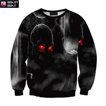 2017 New Halloween Little Skeleton Feeding Sweater Men Women Training Exercise Beast Beat Sports Warm Windproof Sweater
