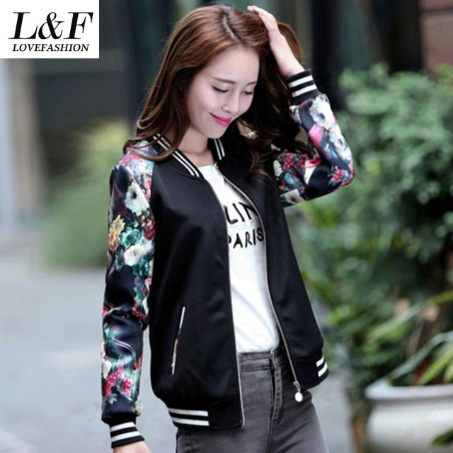 Flower Baseball Jacket - Pl Jackets