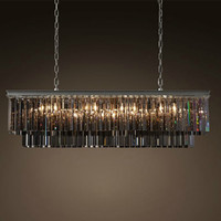 Американский кристалл прямоугольник Подвесные светильники iving номер кристалл Nordic Творческий Villa Hotel подвесные светильники SJ18