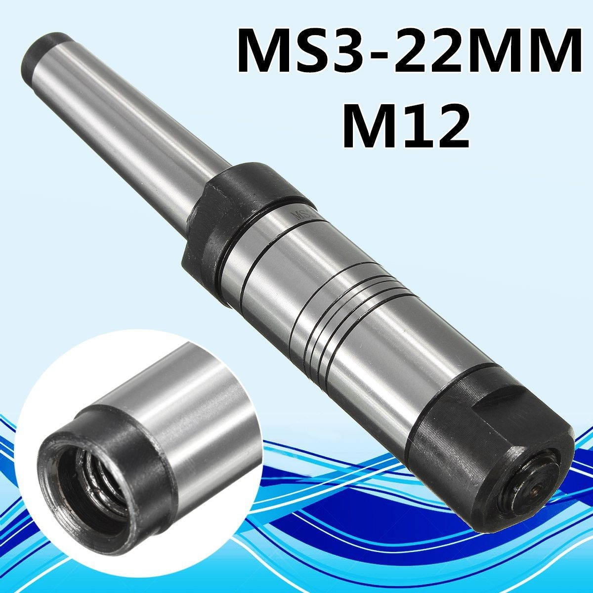 22mm MT3 Shank Milling Arbor Gear Milling Cutter Holder Morse Taper MS3 For 13mm Bore High Hardness 45 steel hight quality morse taper shank drill chucks set cnc lathe drill chuck 5 to 20mm b22 with no 3 morse taper mt3 with key