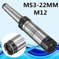 22mm MT3 Shank Milling Arbor Gear Milling Cutter Holder Morse Taper MS3 For 13mm Bore High