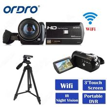 ORDRO HDV-D395 Full HD 1080P 18X 3.0 Touch Screen Digital Video Camera+Tripod photocamera camara de video hd