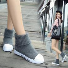 สองสไตล์เซ็กซี่ฤดูหนาวหิมะบู๊ทหนังmujerไม่ลื่นรองเท้าด้านล่างแบนz apatosที่อบอุ่นสบายๆผู้หญิงรองเท้าจัดส่งฟรีF048