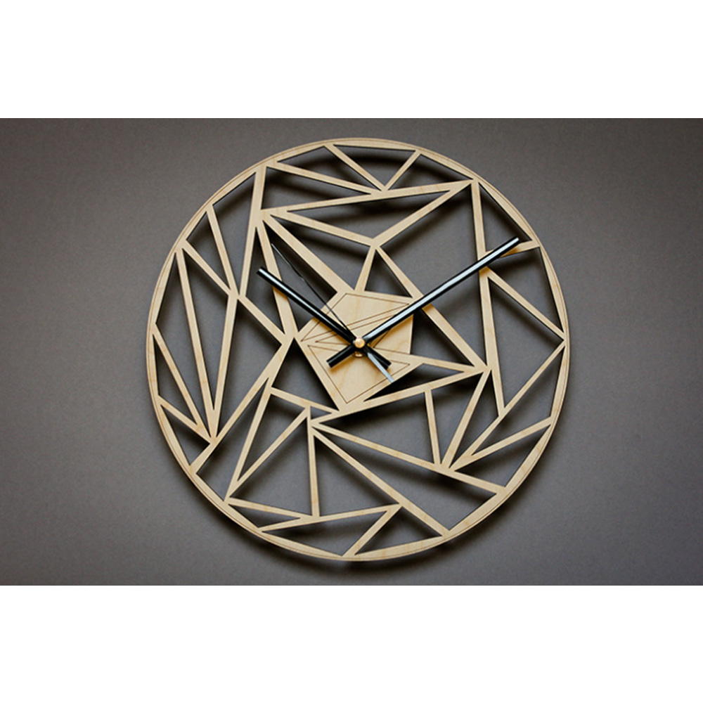 Modern Spiral Hanging Minimalist Wooden Wall Clock Silent Savanna Geometric Clock Watch Wall Art Home Decor Gift Unique Design