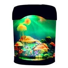 مصباح LED صناعي لحوض السمك ، ضوء مزاجي مثالي للسباحة أو كديكور للمكتب أو المنزل ، TB