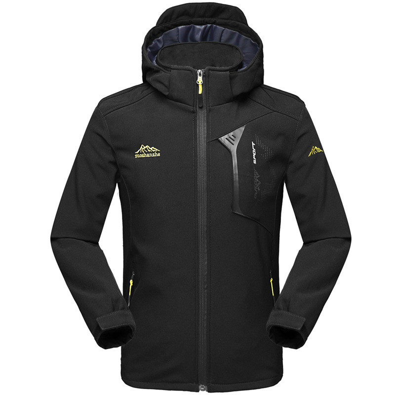 Mens Waterproof Softshell Jackets Outdoor Windproof Breathable Thermal Hunting Fishing Camping Hiking Winter Jacket Men