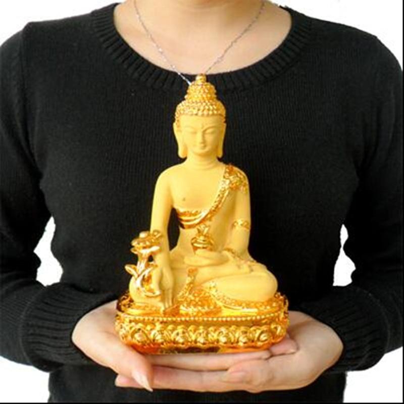 Barevná Claze Buddha socha Fengshui Bůh bohatství Pryskyřice - Dekorace interiéru - Fotografie 2