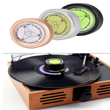 Balanced Disc-Stabilizer Turntable Vinyl Record Vibration Phonograp Gold LP Level Black