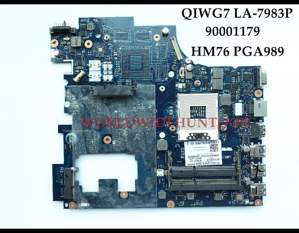 Wholesale high quality QIWG7 LA-7983P FOR Lenovo Ideapad G780 Laptop Motherboard 90001179 HM76 PGA989 DDR3 100% Fully Tested 683495 001 for hp probook 4540s 4441 laptop motherboard pga989 hm76 ddr3 tested working