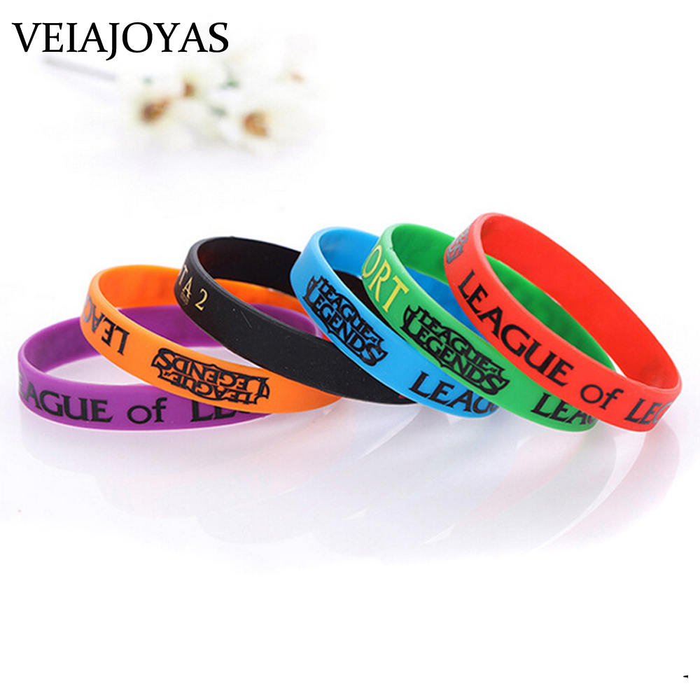 Silicon Bracelet LOL League Wristband Bracelet Printed with ADC JUNGLE MID SUPPORT DOTA 2 Game Bangles Gifts Jewelry Accessories