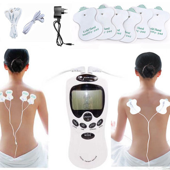 massager electric TENS Body massager Healt care massage back therapy machine Slim Slimming Muscle Relax Fat Burner pain 2+4 pads 1