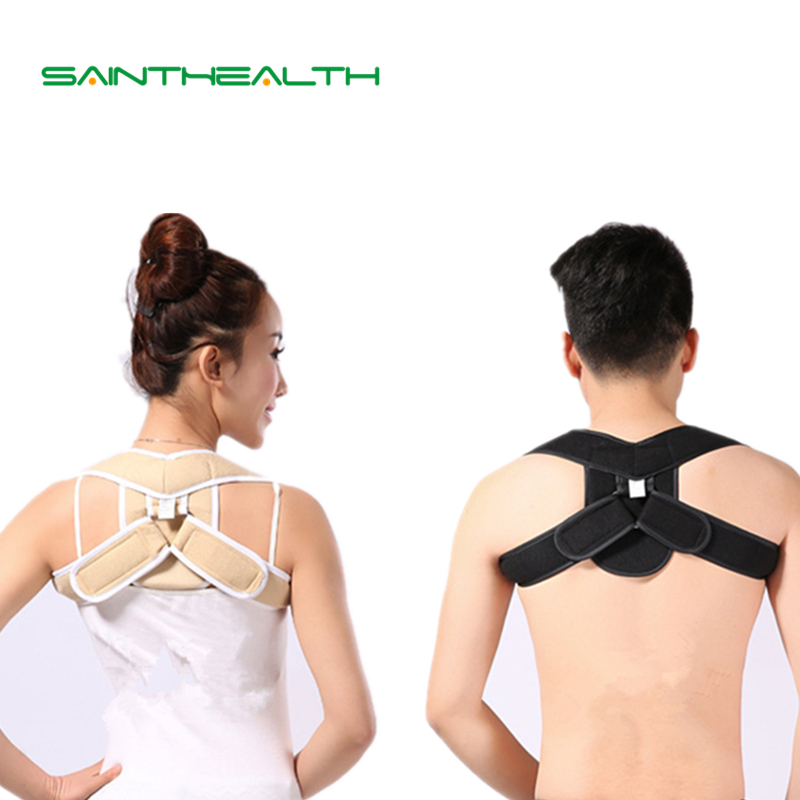 Adjustable Upper Back Shoulder belt Support Posture Corrector Adult Children Corset Spine Brace Back Belt Orthotics Back Support aibikang steel posture corrector back brace and adjustable double pull shoulder back support belt xxl 52 black