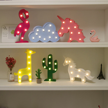 Night Light LED Table Marquee Star Heart Flamingo Pineapple Christmas Coconut Tree Home Party Decoration 3D Desk Night Lamp
