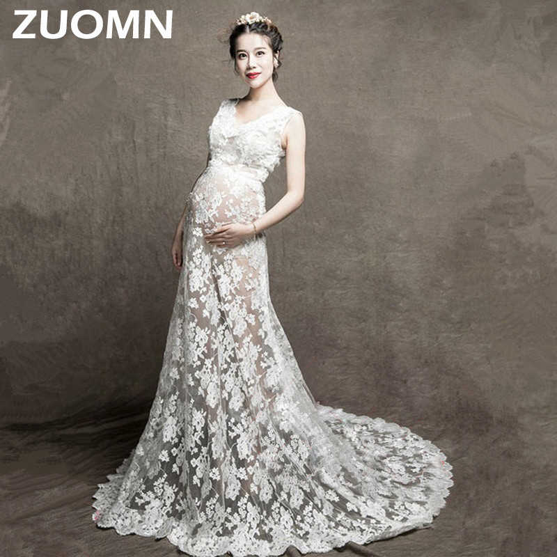 797ff6e7831ca Detail Feedback Questions about Maternity Photography Props Maternity Lace  Gown White Dresses Lace White Photo Shoot Long Dress For Pregnancy Woman  Clothes ...