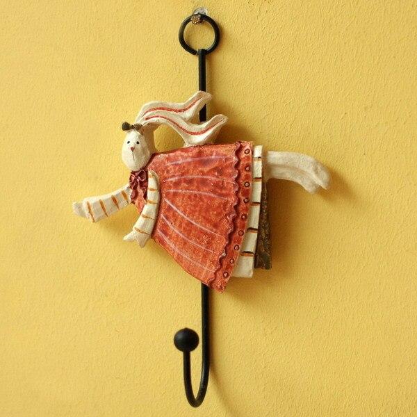 4PCS Decorative Resin Rabbit Clothes Hook Coat Key Bag Hat Towel ...