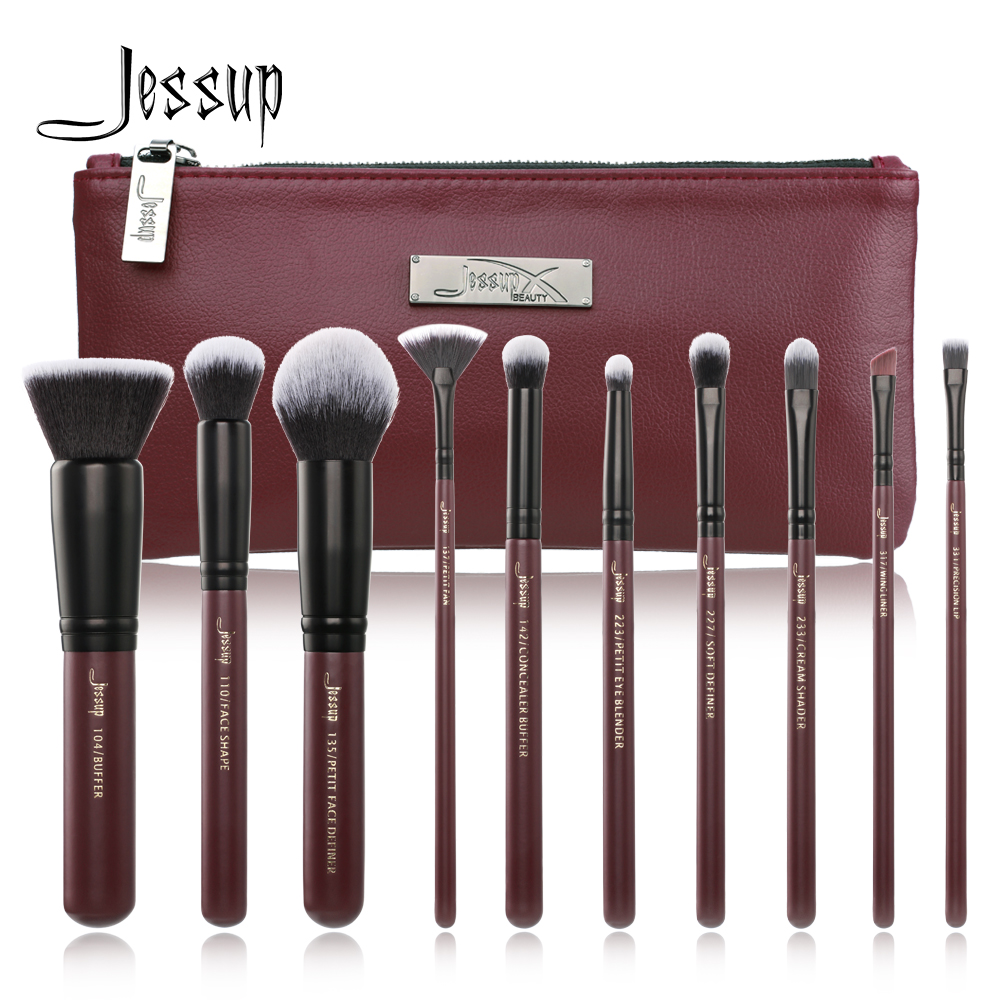 2018 neue Jessup Make-Up Pinsel Set Sommer pincel maquiagem profissional completa wimpern lidschatten T259 Kosmetik Tasche CB004