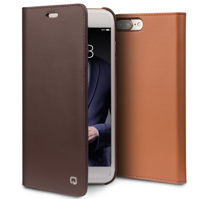 Nostalgia Business Style Phone Cover for iPhone 8 Case Luxury Genuine Leather Flip Case Bag for iPhone 8 Plus for 4.7/5.5 inches