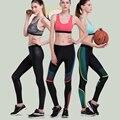 Women yoga Брюки леггинсы спортивные колготки Фитнес Бег Колготки спортивной женщина тренажерный зал одежда mallas deportivas mujer