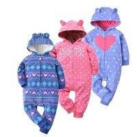 2018 Spring Jumpsuit Baby Girl Clothing Fleece Romper Baby Coat 12M 24M Kids Costumes For Boys