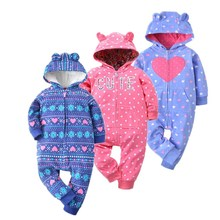 2018 spring jumpsuit baby girl clothing fleece romper baby coat 12M-24M kids costumes for boys clothes , body infant jackets