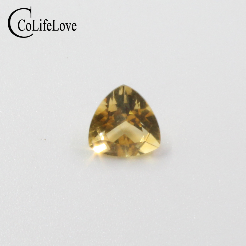 Flawless natural citrine loose gemstone for jewelry making 8 mm * 8 mm brilliant trillion cut citrine loose stone for ring original cutter 05075 8 mm dia cut