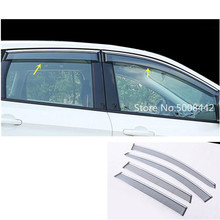 For Ford Kuga 2017 2018 2019 car body styling cover stick lamp plastic window glass wind visor rain/sun guard vent 4pcs