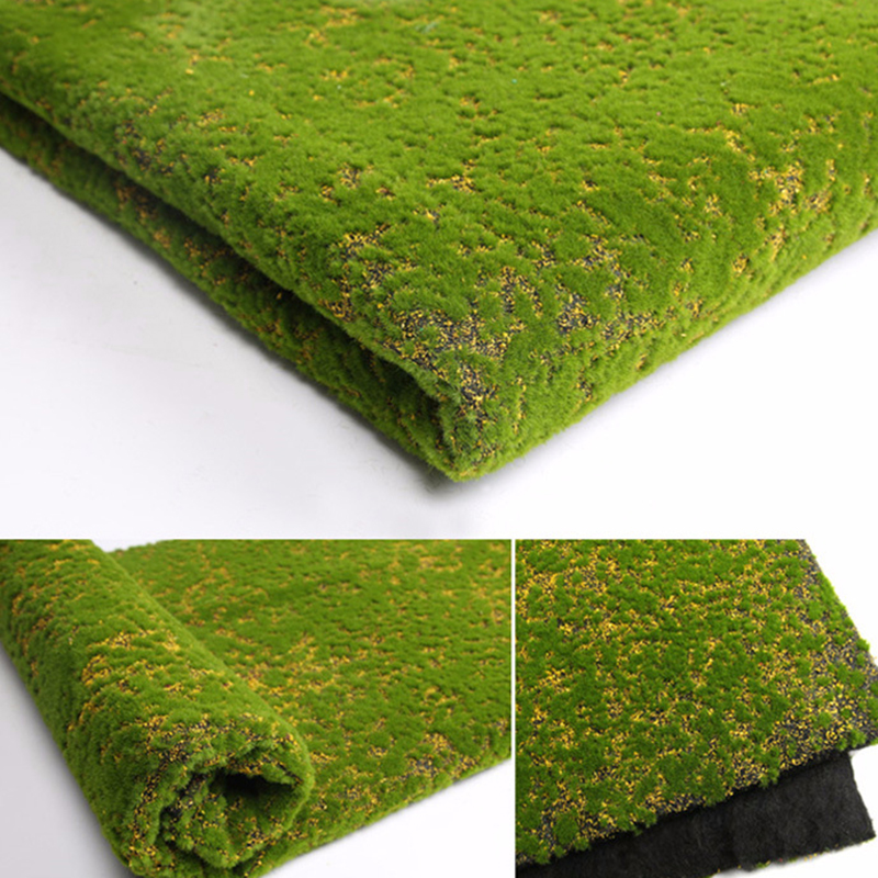 Artificial Moss Fake Green Plants Faux Grass Lawn Carpet Simulation Mat Wall Shop Home Patio Decoration For Wedding