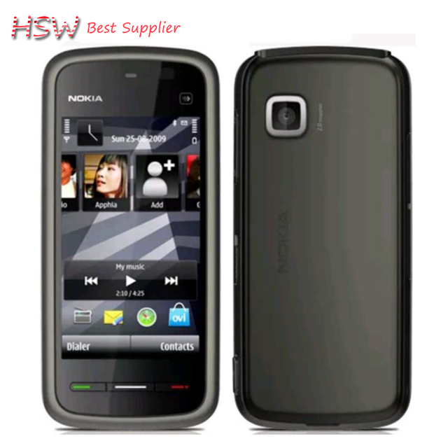 2016 venta caliente clásico 5230 100% original desbloqueado nokia 5230xm wcdma 3g fm bluetooth barato teléfono celular reformado envío libre