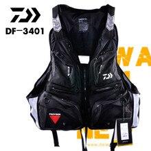 2018 NEW DAIWA life jacket Vest DF-3401 outdoors DAWA sport buoyancy 120 kg Multi Pocket Multi-function man DAIWAS Free shipping