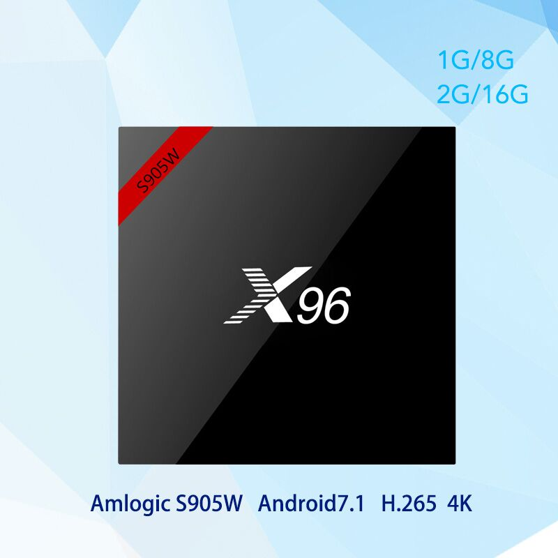 X96W TV Box X96 S905W Android 7.1 Smart TV Box Amlogic 2 gb 16 gb Unterstützung 2,4 ghz WiFi BT HD 4 karat Set-top Box pk x96
