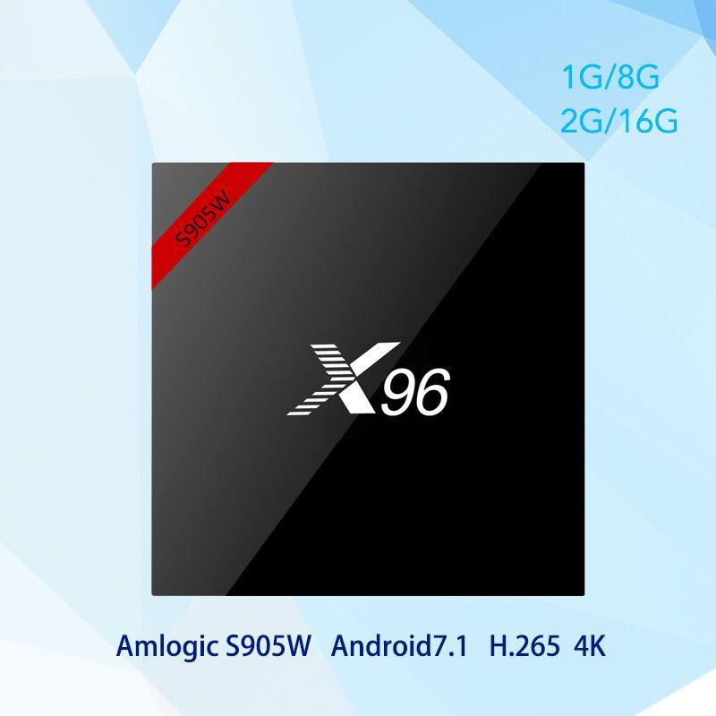 X96W TV X96 S905W Android 7,1 Smart TV caja Amlogic 2 GB 16 GB apoyo 2,4 GHz WiFi BT HD 4 K Set-top Box pk x96