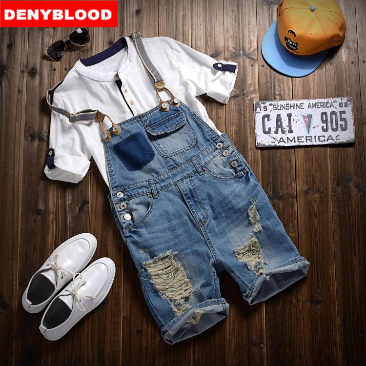 e59781ed7c9e aeProduct.getSubject(). 2016 Spring New Arrival Stretched Mens Slim  Straight Denim Overalls Distressed Jeans Ripped Jumpsuit Male Suspenders  Bibs 282