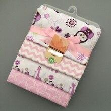 4pcs/set 2019 Cute Baby Blankets 4 Patterns Fleece Infant Swaddle Bebe Envelope Stroller Wrap For Newborns Bedding Blanket
