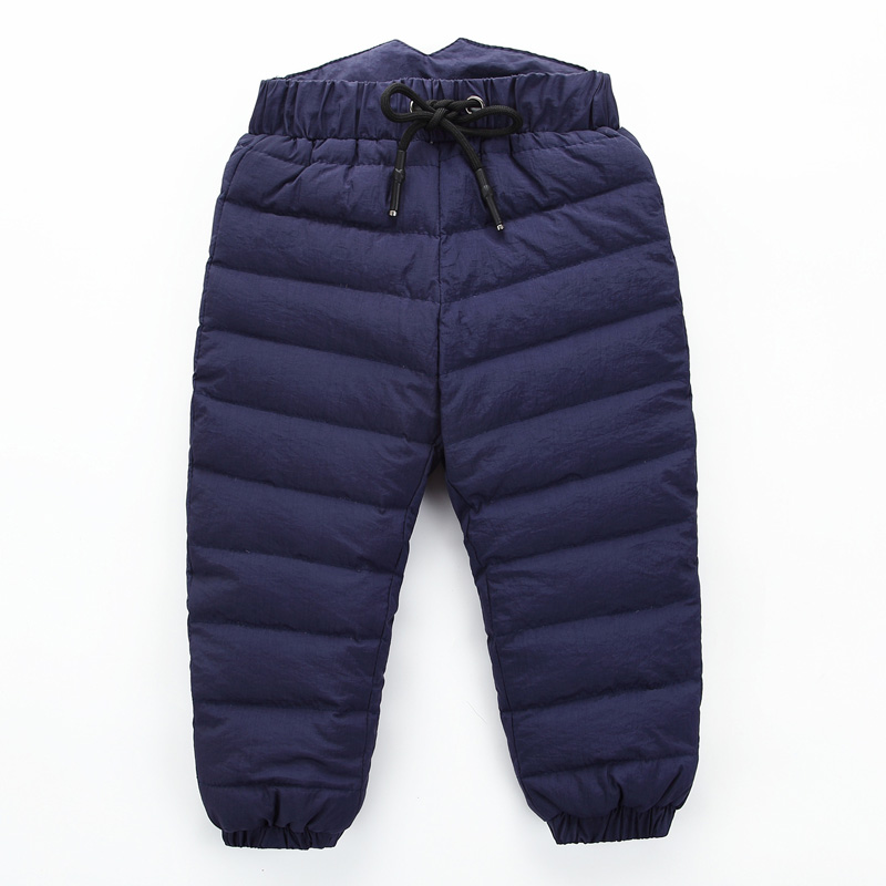 bc09b8c1035f Children 80% Down Winter Pants For Baby Boys Girls High Waist Warm ...